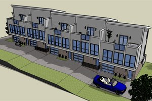 Modern Exterior - Front Elevation Plan #448-1