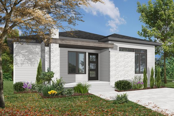 Casual And Cool, Plan 23 2638 (above) Presents A Simple Yet Memorable  Exterior. With The Dining Room, Kitchen, And Great Room All Open To One  Another, ...
