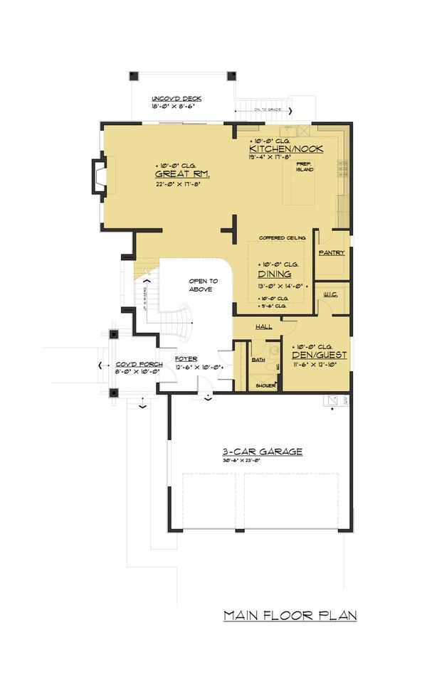 Traditional Floor Plan - Main Floor Plan Plan #1066-58