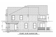 Colonial Style House Plan - 4 Beds 4.5 Baths 4352 Sq/Ft Plan #20-2442 Exterior - Other Elevation