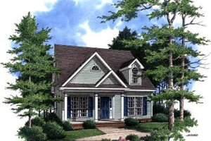 Cottage Exterior - Front Elevation Plan #37-164