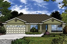 European Exterior - Front Elevation Plan #417-848