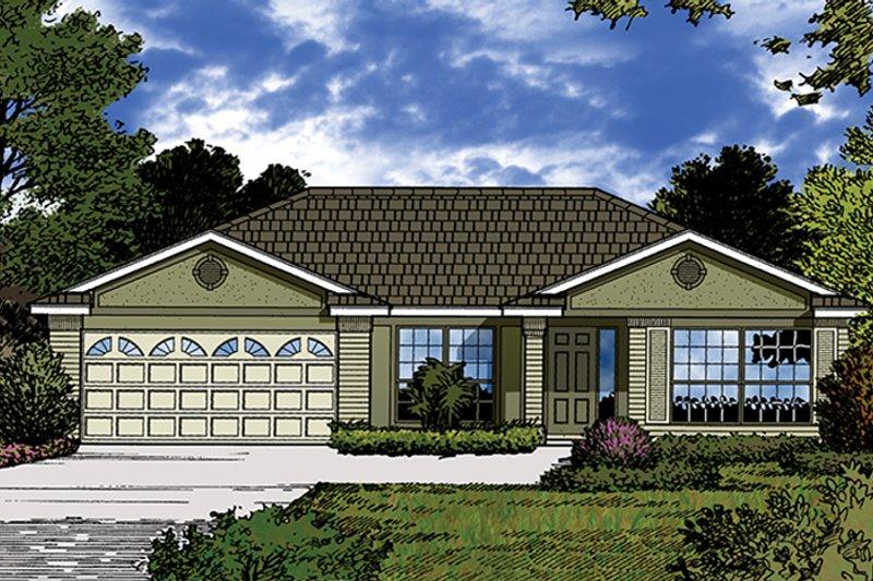 European Exterior - Front Elevation Plan #417-848 - Houseplans.com