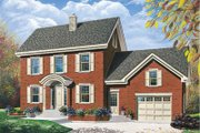 Colonial Style House Plan - 3 Beds 2 Baths 1889 Sq/Ft Plan #23-2056 Exterior - Front Elevation