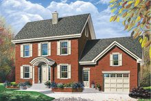 Colonial Exterior - Front Elevation Plan #23-2056