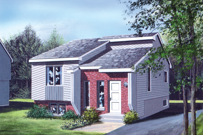 Cottage Style House Plan - 2 Beds 1 Baths 812 Sq/Ft Plan #25-1237 Exterior - Front Elevation