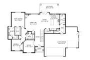 Ranch Style House Plan - 6 Beds 4.5 Baths 4438 Sq/Ft Plan #920-97 Floor Plan - Main Floor Plan