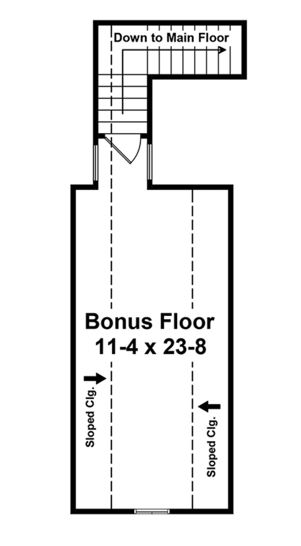 Ranch Floor Plan - Upper Floor Plan Plan #21-440