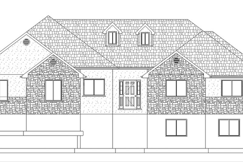 Ranch Exterior - Front Elevation Plan #1060-13 - Houseplans.com