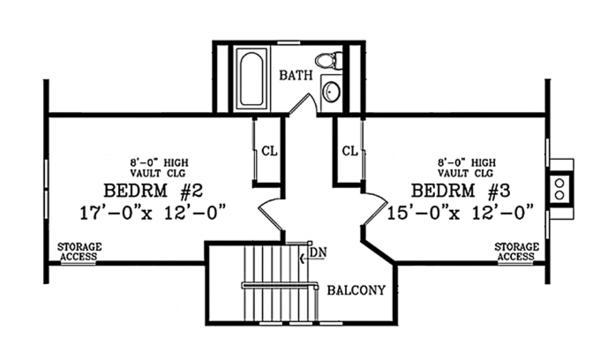 Craftsman Floor Plan - Upper Floor Plan Plan #314-283
