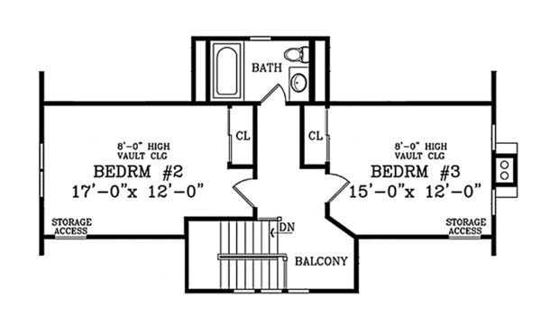 Home Plan - Craftsman Floor Plan - Upper Floor Plan #314-283