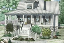 Country Exterior - Front Elevation Plan #17-3287