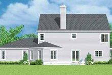 House Blueprint - Country Exterior - Rear Elevation Plan #72-1101