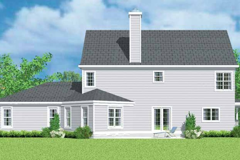 Country Exterior - Rear Elevation Plan #72-1101 - Houseplans.com