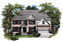 Home Plan - Colonial Exterior - Front Elevation Plan #927-178
