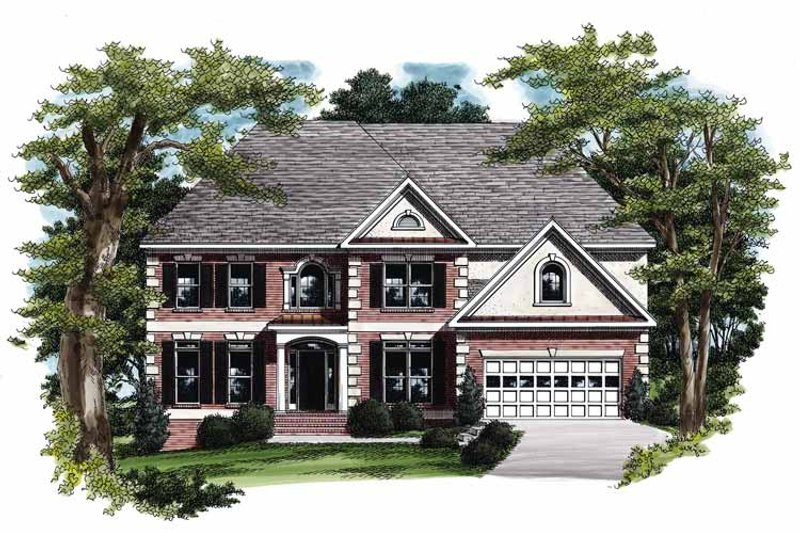 Colonial Exterior - Front Elevation Plan #927-178