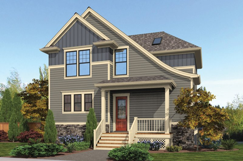 Architectural House Design - Craftsman Exterior - Front Elevation Plan #48-911