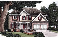 Home Plan - Colonial Exterior - Front Elevation Plan #927-218