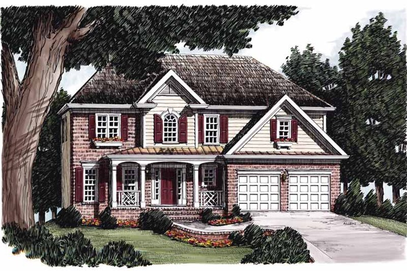 House Plan Design - Colonial Exterior - Front Elevation Plan #927-218