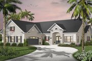 Mediterranean Style House Plan - 3 Beds 2.5 Baths 2080 Sq/Ft Plan #23-2205 Exterior - Front Elevation