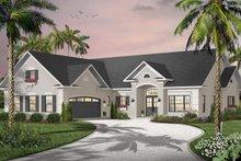 Dream House Plan - Mediterranean Exterior - Front Elevation Plan #23-2205