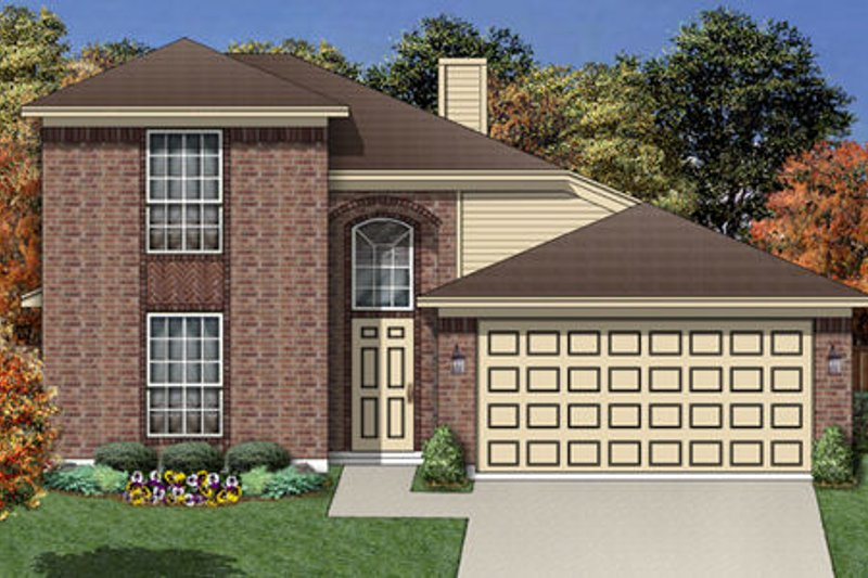 Traditional Exterior - Front Elevation Plan #84-456 - Houseplans.com
