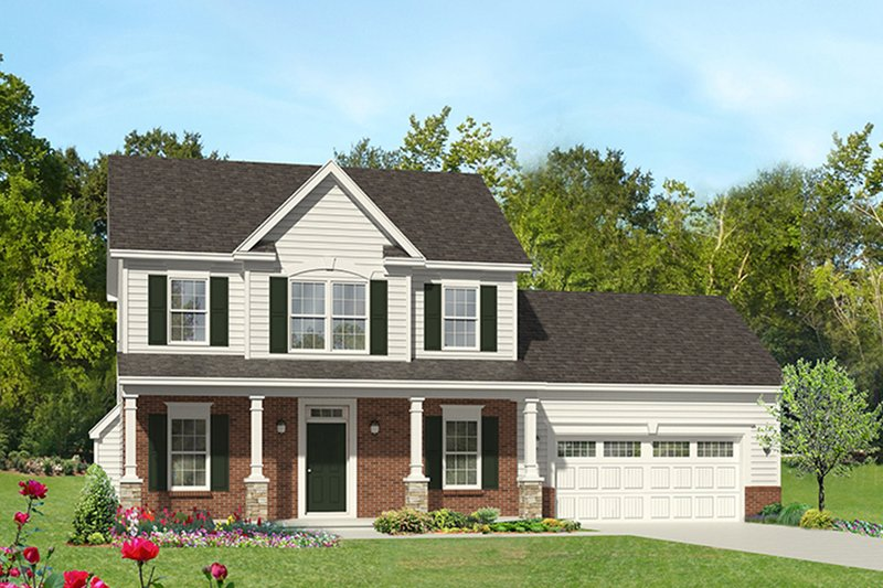 Colonial Exterior - Front Elevation Plan #1010-113 - Houseplans.com