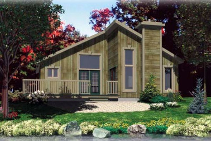 Contemporary Style House Plan - 2 Beds 1 Baths 987 Sq/Ft Plan #138-291
