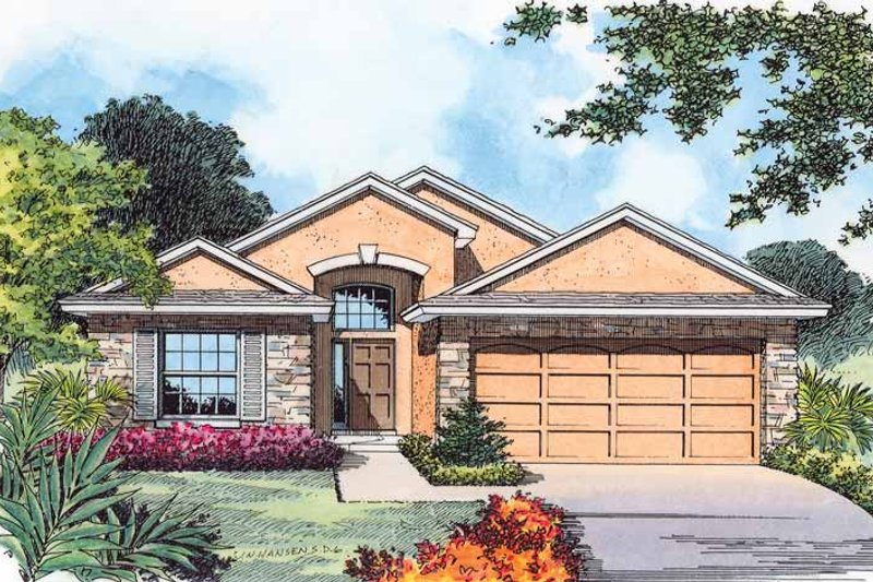Home Plan - Contemporary Exterior - Front Elevation Plan #1015-33