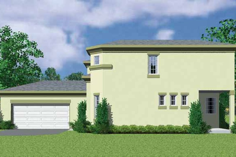 Home Plan - Contemporary Exterior - Other Elevation Plan #72-1125