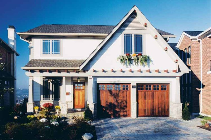Craftsman Exterior - Front Elevation Plan #46-749