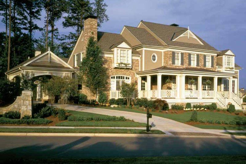 Colonial Exterior - Front Elevation Plan #429-327 - Houseplans.com
