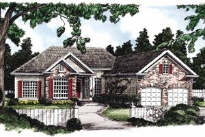 European Exterior - Front Elevation Plan #927-206