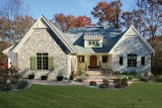 European Style House Plan - 2 Beds 2.5 Baths 2699 Sq/Ft Plan #928-190 Exterior - Front Elevation