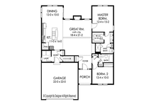 Ranch Floor Plan - Main Floor Plan Plan #1010-181