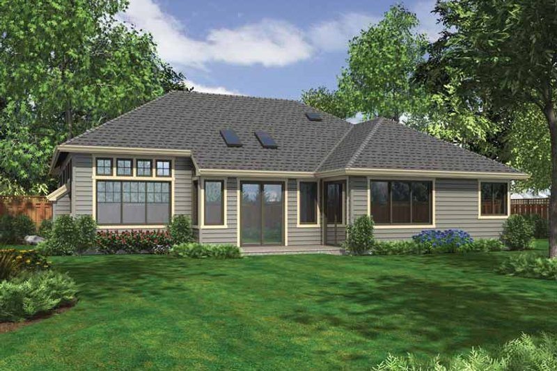 Craftsman Exterior - Rear Elevation Plan #132-537 - Houseplans.com