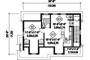 Traditional Style House Plan - 0 Beds 0 Baths 670 Sq/Ft Plan #25-4624 Floor Plan - Upper Floor Plan