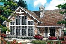 Home Plan - Craftsman Exterior - Rear Elevation Plan #48-381