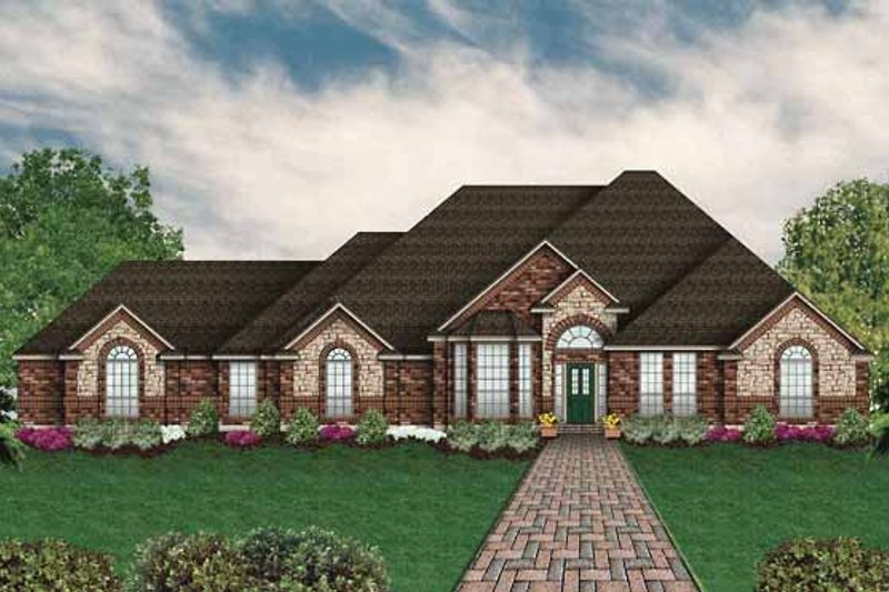 Country Exterior - Front Elevation Plan #84-655 - Houseplans.com