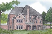 House Plan Design - Traditional Exterior - Rear Elevation Plan #453-602