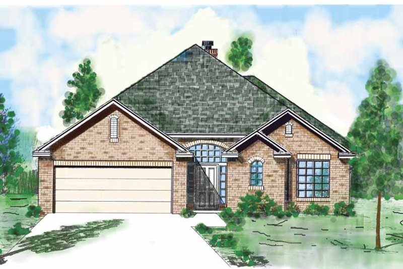 Country Exterior - Front Elevation Plan #52-260 - Houseplans.com