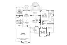 Traditional Floor Plan - Main Floor Plan Plan #929-924