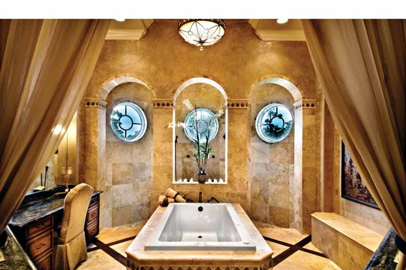 Mediterranean Interior - Master Bathroom Plan #930-440 - Houseplans.com