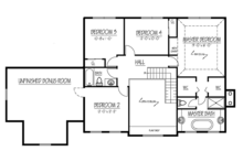 Colonial Floor Plan - Upper Floor Plan Plan #1061-5