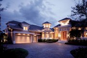 Mediterranean Style House Plan - 3 Beds 4.5 Baths 5220 Sq/Ft Plan #930-194 Exterior - Front Elevation