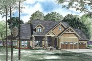 Craftsman Style House Plan - 4 Beds 3 Baths 3345 Sq/Ft Plan #17-2443 Exterior - Front Elevation