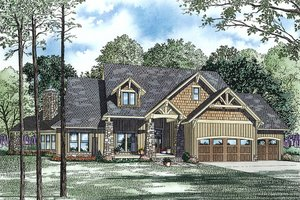 Craftsman Exterior - Front Elevation Plan #17-2443