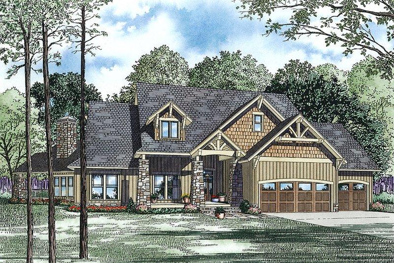 Dream House Plan - Craftsman Exterior - Front Elevation Plan #17-2443