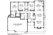 Ranch Style House Plan - 3 Beds 2.5 Baths 2123 Sq/Ft Plan #70-1196 Floor Plan - Main Floor