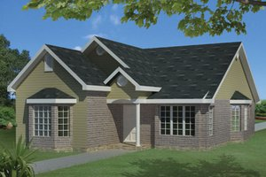 Home Plan Design - Ranch Exterior - Front Elevation Plan #1061-23